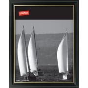 "Staples 20196-CC 8 1/2"" x 11"" Black Wood Frame"