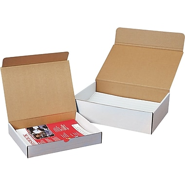 White Literature Mailers, 12 1/8in. x 11 3/4in. x 3 1/4in.