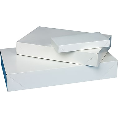2 Piece Apparel Boxes, 11 1/2in. x 8 1/2in. x 1 5/8in., White