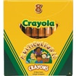 Crayola® BIN52080W Multicultural Crayon, Assorted, 8/Pack