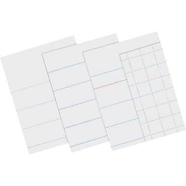 Pacon® Wide-Ruled Paper; 8-1/2x11in., Red Margin