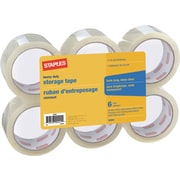 Staples® Heavy Duty Storage Tape, 48 mm x 50 m, 2.6-mil, 6/Pack