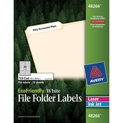Avery® 48266 EcoFriendly White Multipurpose File Folder Labels, 750/Box