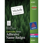 Avery® EcoFriendly White Multipurpose Name Badge Labels, 2 1/3 x 3 3/8, 160/Pack