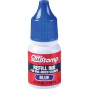 Offistamp Pre-Inked Stamp,  Blue Ink Refill