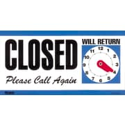 "Cosco® Open/Closed Sign with Clock, 6"" x 11 1/2"""