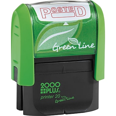 2000 PLUS® Green Line Self-inking Stamp, Posted