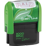 2000PLUS Green Line Self inking Stamp, Paid, Red Ink by