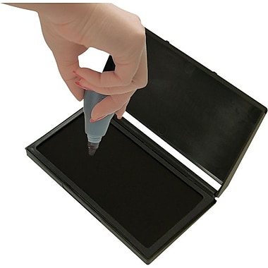 Cosco® 2000 Plus® Gel-Based Stamp Pad, Black, #1- 2 3/4in. x 4 1/4in.