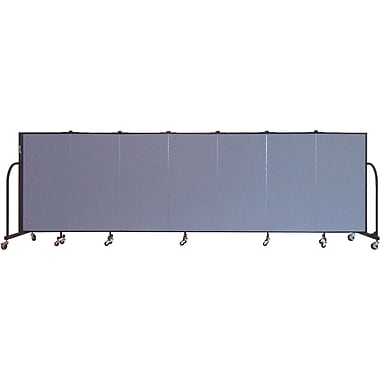Screenflex Portable Furniture 48''Hx113''W Privacy Panel, Gray (CFSL407)