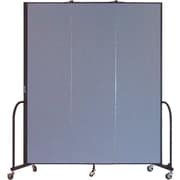 Screenflex Portable Furniture 88''Hx69''W Privacy Panel, Gray (CFSL743)