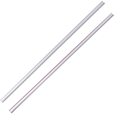 Dixie® White/Red Stir-Straws, 10,000/Case