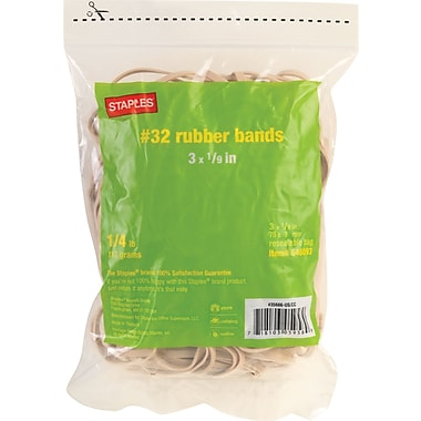 Staples Economy Rubber Bands Size #32, 1/4 lb.