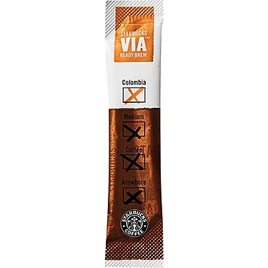 Starbucks® VIA™ Ready Brew Instant Columbian Ground Coffee, Regular, .11 oz., 50 Packets