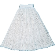 Cut-End Cotton Mop #20, Economy, White, 12/Ct