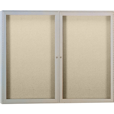Ghent® 4' x 3' Outdoor Enclosed Bulletin Board with Aluminum Frame