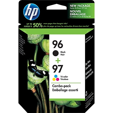 HP 96 Black & 97 Tri-Color Original Ink Cartridges, 2/Pack (C9353FN)