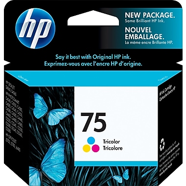 HP 75 Tri-Color Original Ink Cartridge (CB337WN)