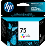 HP – Cartouche d'encre n° 75, tricolore (CB337WC)