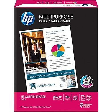 HP Multipurpose Paper, 8 1/2in. x 14in., Ream