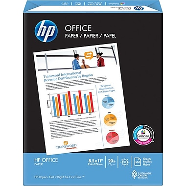 HP Office Paper, 8 1/2in. x 11in., Ream