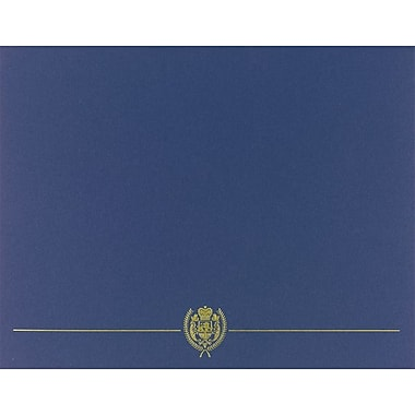 Great Papers® Classic Crest Certificate Holders, Navy