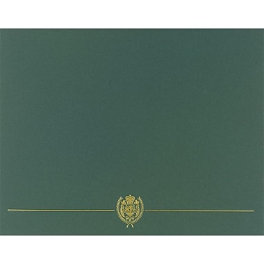 Great Papers® Classic Crest Certificate Holders, Hunter Green