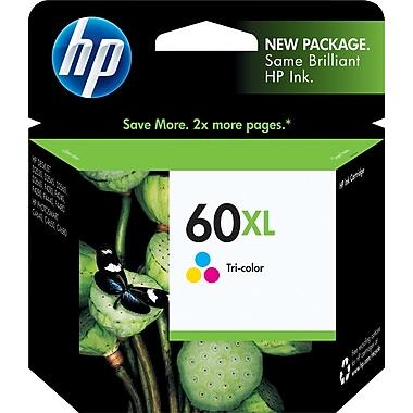 HP – Cartouche d'encre tricolore 60 XL, haut rendement (CC644WC)