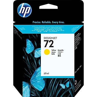 HP C9400A 72 Ink Cartridge, Yellow, 69mL