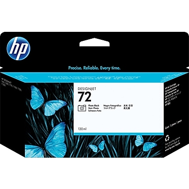 HP C9370A 72 Ink Cartridge, Photo Black, 130mL