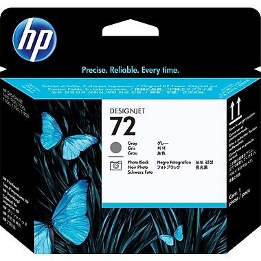 HP C9380A 72 Printhead, Grey/Photo Black
