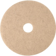 "3M Burnishing Pad, Natural Blend Tan Pad 3500, 20"", 5/Ct"