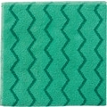 Rubbermaid HYGEN™ Microfiber All-Purpose Cleaning Wiping Cloths, Green, 16in., 12/Pack
