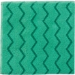 "Rubbermaid HYGEN™ Microfiber All-Purpose Cleaning Wiping Cloths, Green, 16"", 12/Pack"