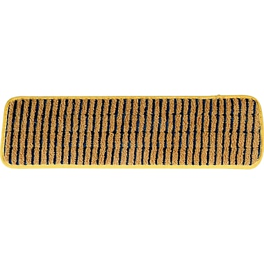 Rubbermaid HYGEN™ Microfiber Damp Mop Pads with Scrubber, Wet, Yellow, 18in., 6/Pack