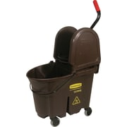 Rubbermaid WaveBrake® Mop Bucket/Down-Press Wringers Combo, Brown, 35-Quart Capacity