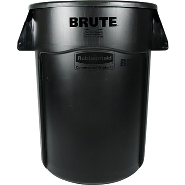 Rubbermaid Brute® Container, Black, 44 gal.