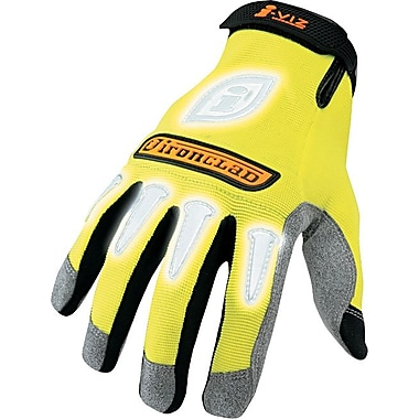 Ironclad® I-Viz Reflective Gloves, Large, Yellow