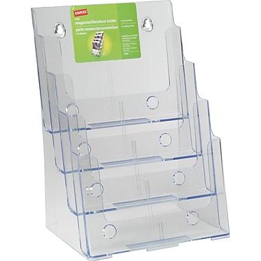 Staples® 4-Tier Magazine Size Literature Holder