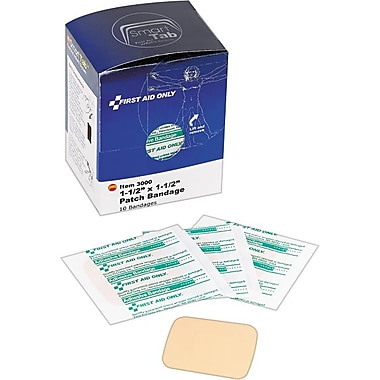 First Aid Patch Plastic Bandages, SmartCompliance™ Refill, 1 1/2in. x 1 1/2in., 10/Box