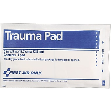 First Aid Only Trauma Pad, SmartCompliance™ Refill, 5in. x 9in.