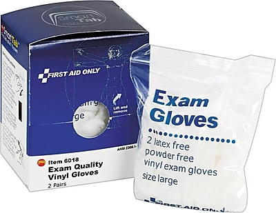 First Aid Only SmartCompliance Refill Nitrile Gloves 4 Per Box FAE 6018