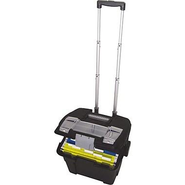 Storex Premium File Cart, Letter, Black, 16 1/4