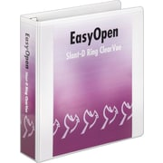2 Cardinal® EasyOpen® ClearVue™ Binders with Locking D-Rings, White