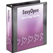 2 Cardinal® EasyOpen® ClearVue™ Binders with Locking D-Rings, Black