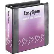 3 Cardinal® EasyOpen® ClearVue™ Binder with Locking D-Rings, Black