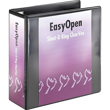 4in. Cardinal® EasyOpen® ClearVue™ Binder with Locking D-Rings, Black