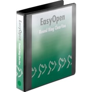 1-1/2 Cardinal® EasyOpen® ClearVue™ Binder with Round Rings, Black