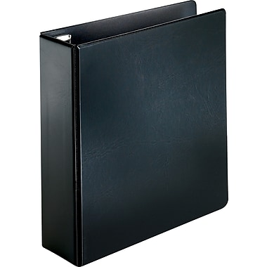 Cardinal 3in. Easy Open Binder with Locking D-Rings, Black