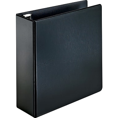 Cardinal Easy Open 4-Inch Round 3-Ring Non-View Binder, Black (18752)